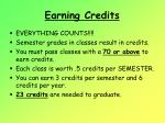 earning credits