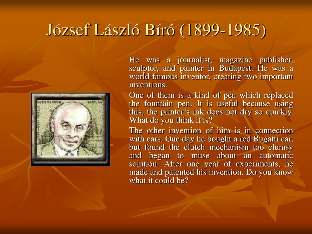 József László Bíró (1899-1985)