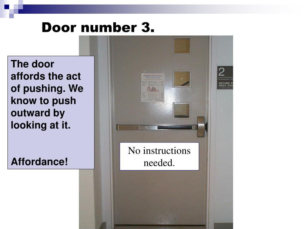 Door number 3.