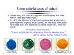 some colorful uses of cobalt