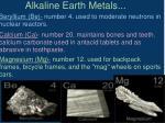 alkaline earth metals