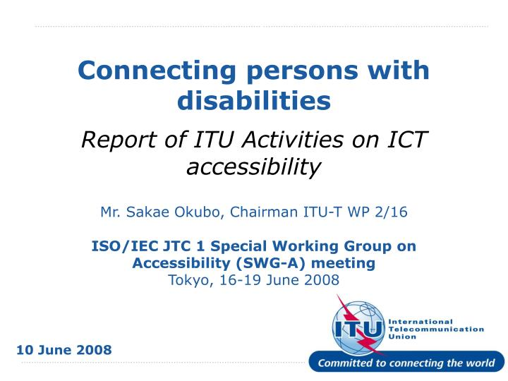 connecting persons with disabilities n.