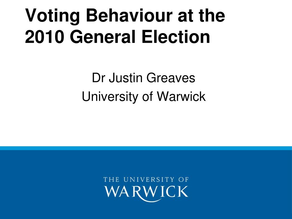 voting behaviour at the 2010 general election l.