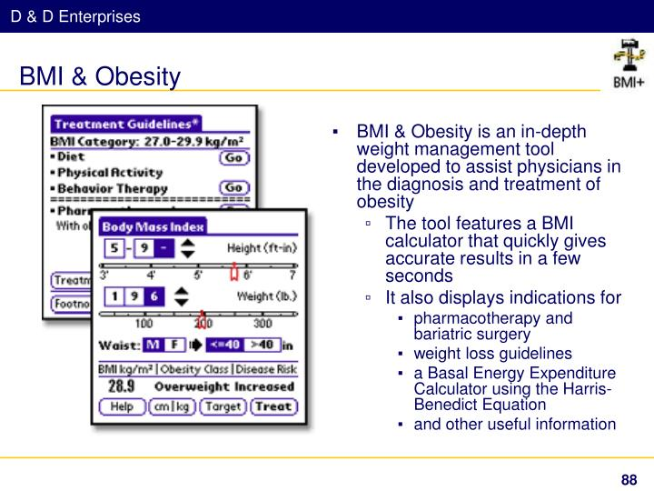 BMI & Obesity is an in-depth weight management tool developed to assist physicians in the diagnosis and treatment of obesity