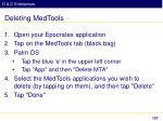 deleting medtools