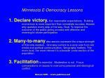 minnesota e democracy lessons