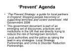 prevent agenda