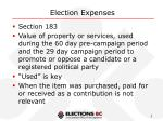election expenses