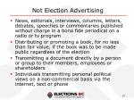 not election advertising