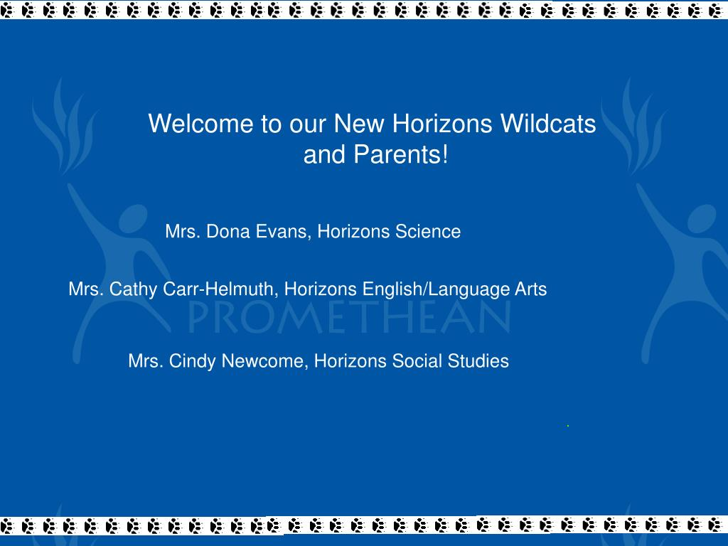 Welcome to our New Horizons Wildcats