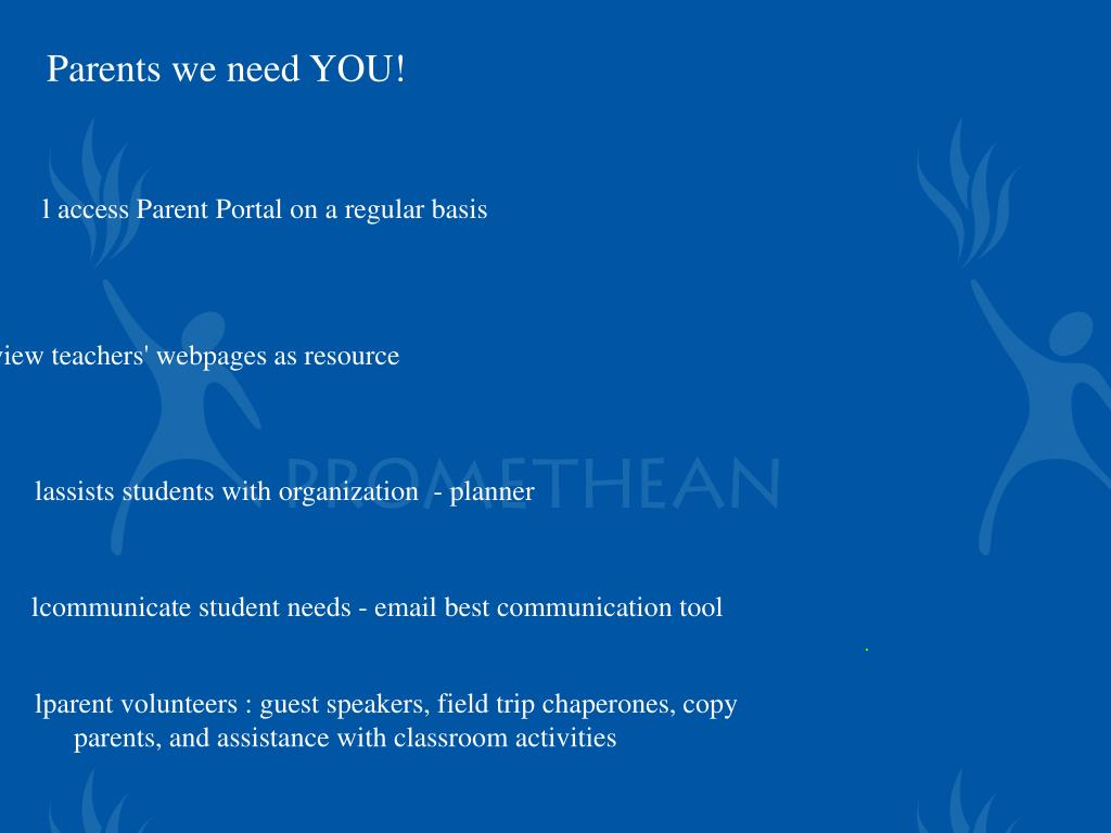 Parents we need YOU!