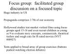 focus group facilitated group discussion on a focused topic