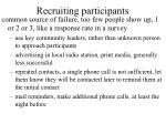 recruiting participants