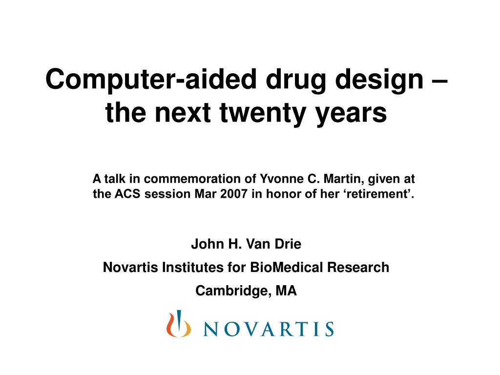 computer aided drug design the next twenty years l.