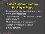 individual contributions buckley v valeo