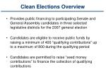 clean elections overview