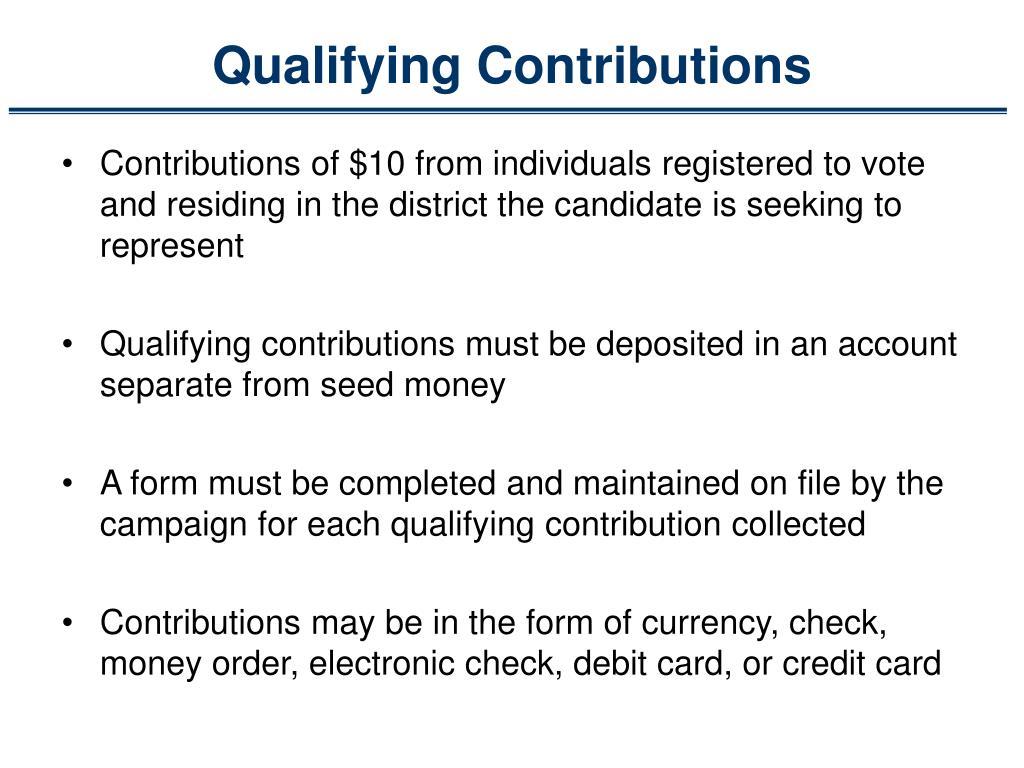 Qualifying Contributions