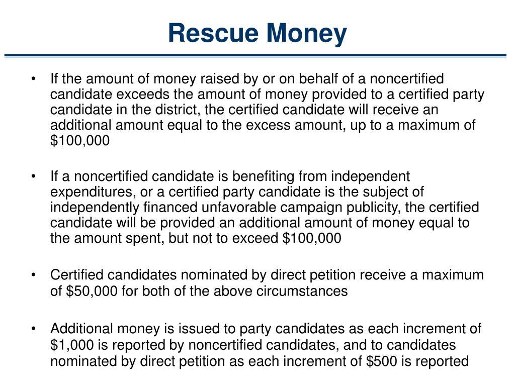 Rescue Money