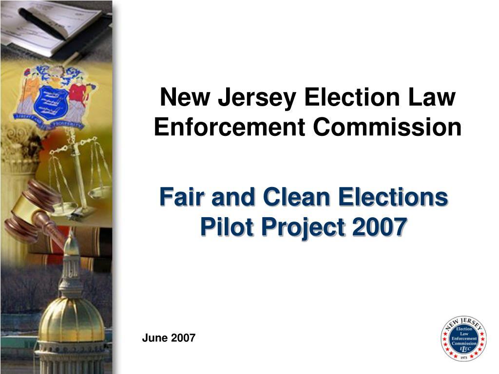 New Jersey Election Law Enforcement Commission