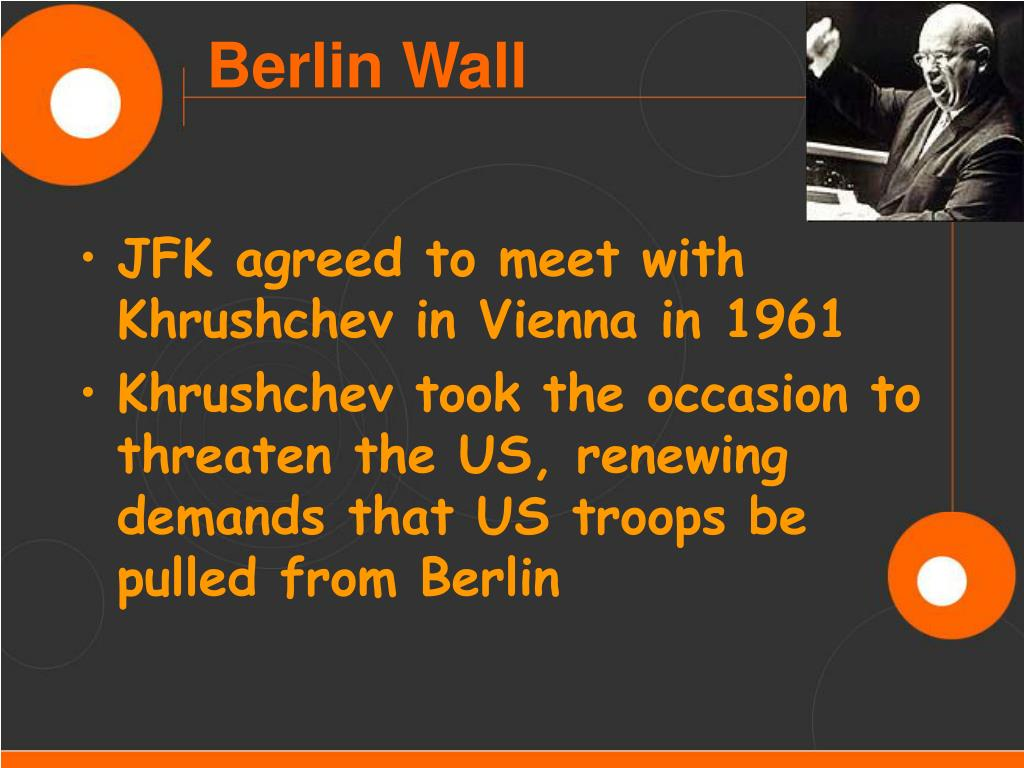 JFK agreed to meet with Khrushchev in Vienna in 1961