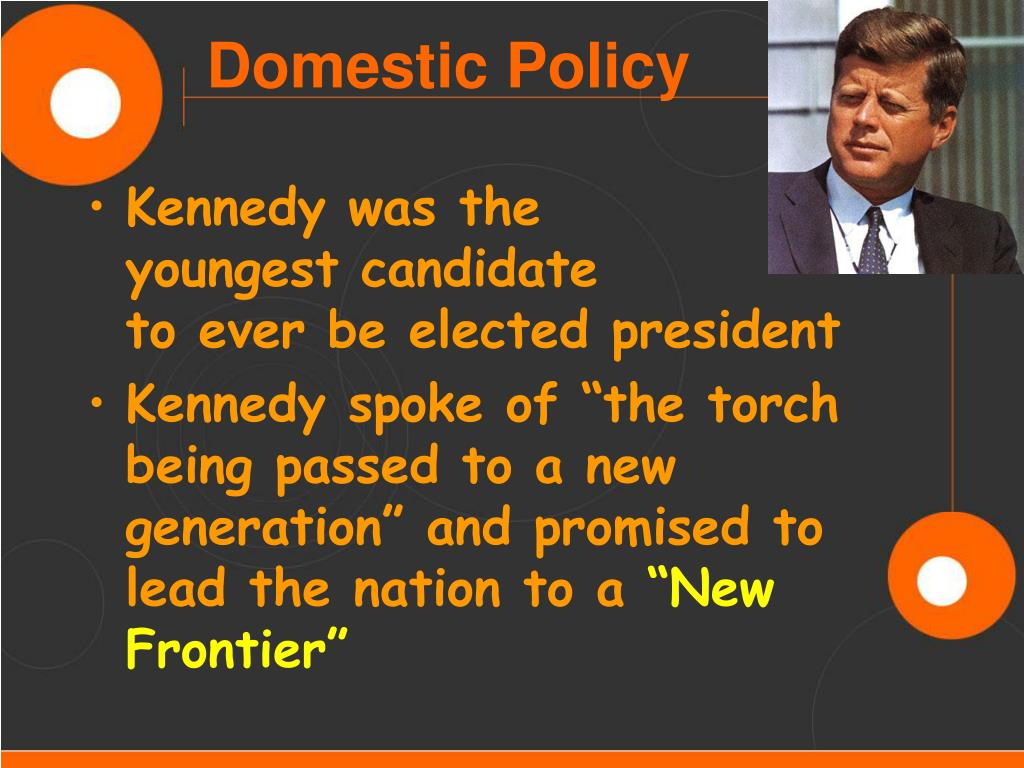 Kennedy was the              youngest candidate              to ever be elected president