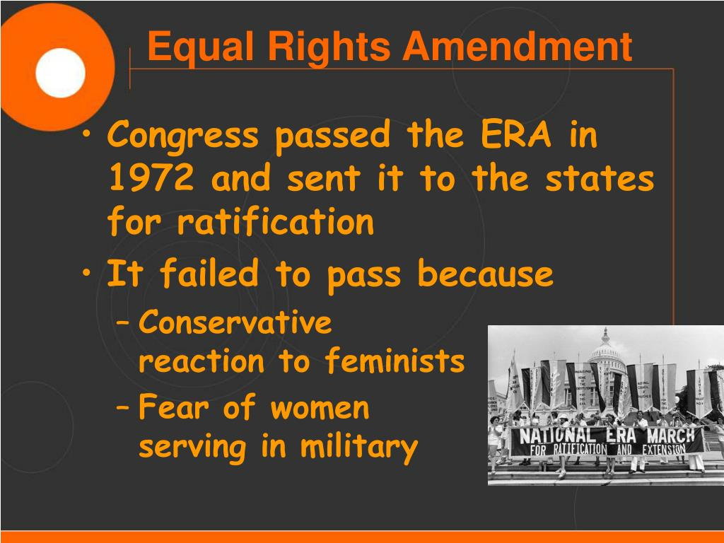 Congress passed the ERA in 1972 and sent it to the states for ratification