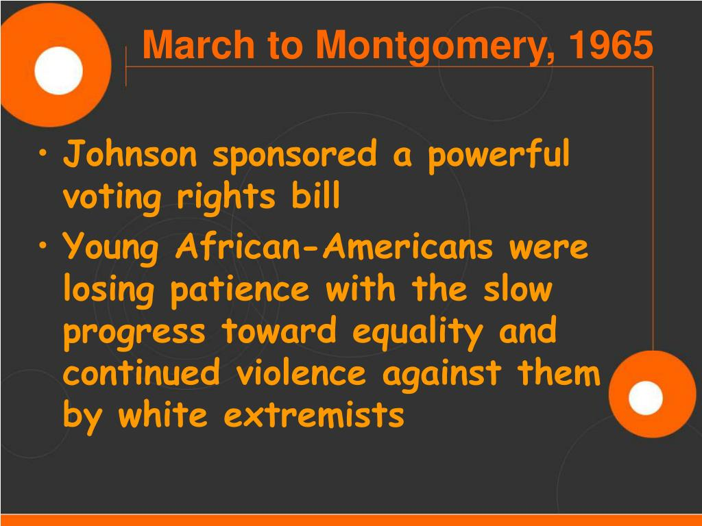 Johnson sponsored a powerful voting rights bill