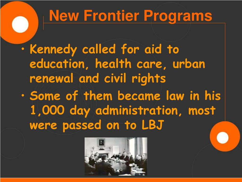 Kennedy called for aid to education, health care, urban renewal and civil rights