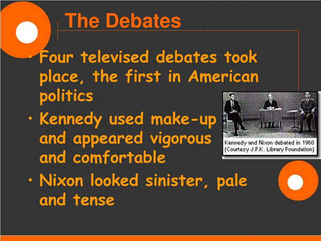 Four televised debates took place, the first in American politics