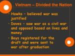 vietnam divided the nation