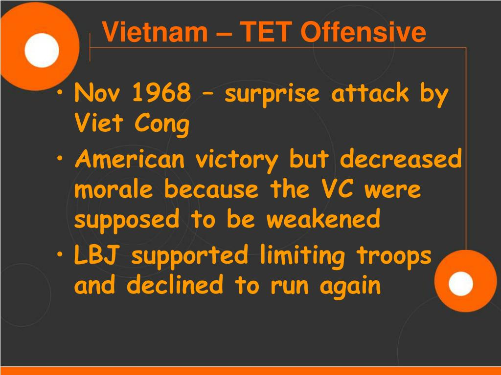 Nov 1968 – surprise attack by Viet Cong