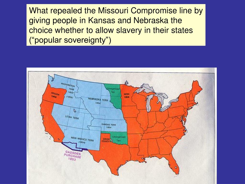 What repealed the Missouri Compromise line by