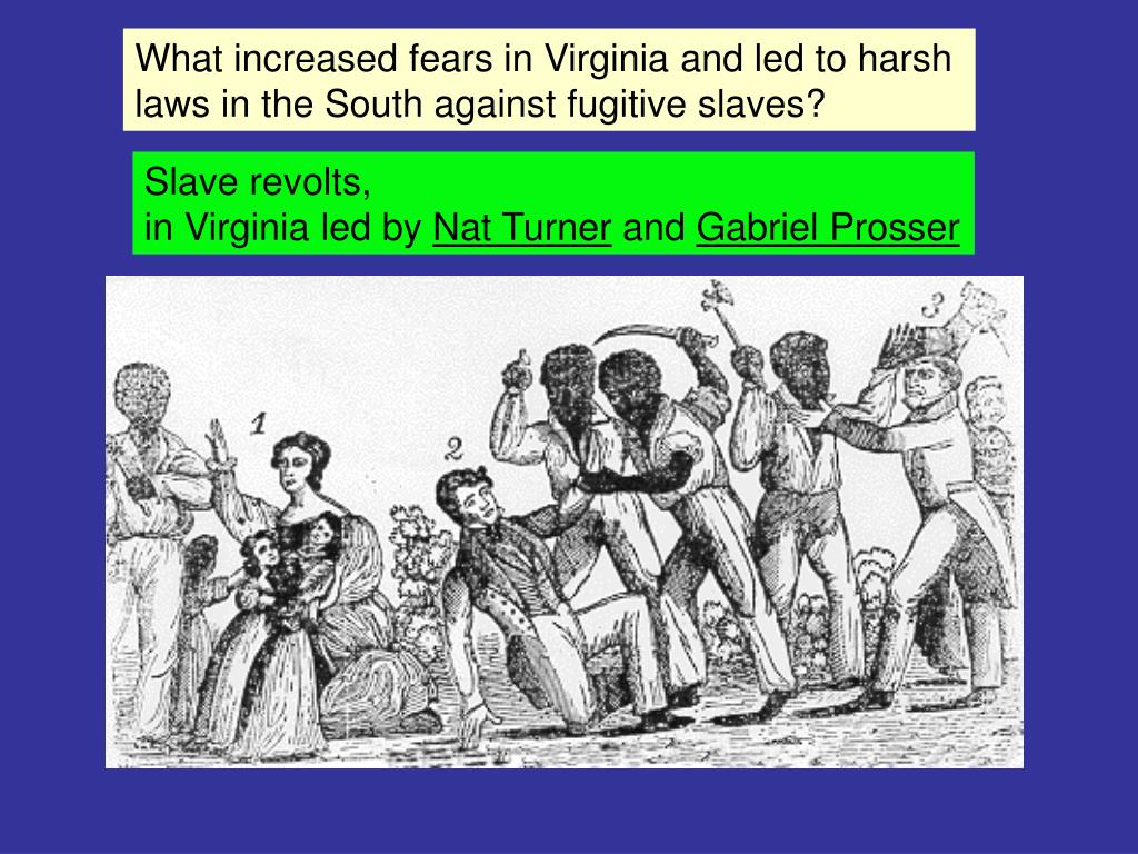 What increased fears in Virginia and led to harsh