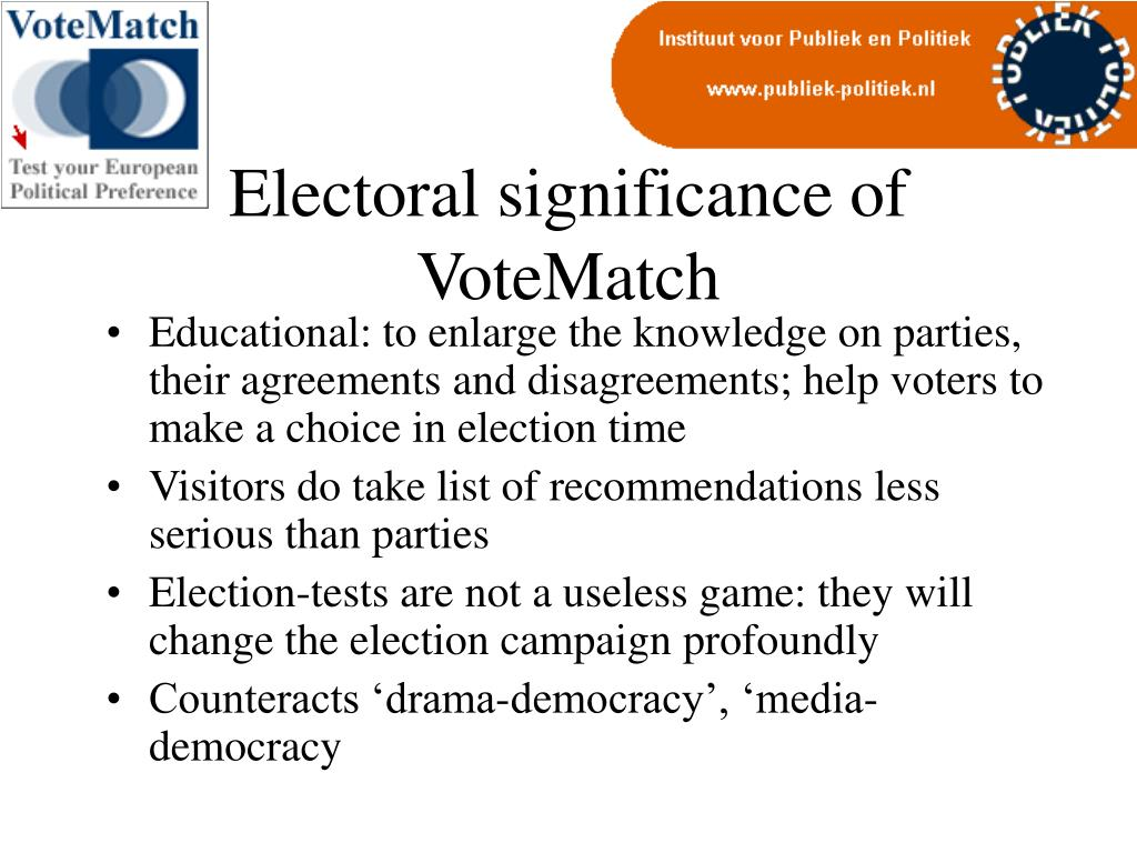 Electoral significance of