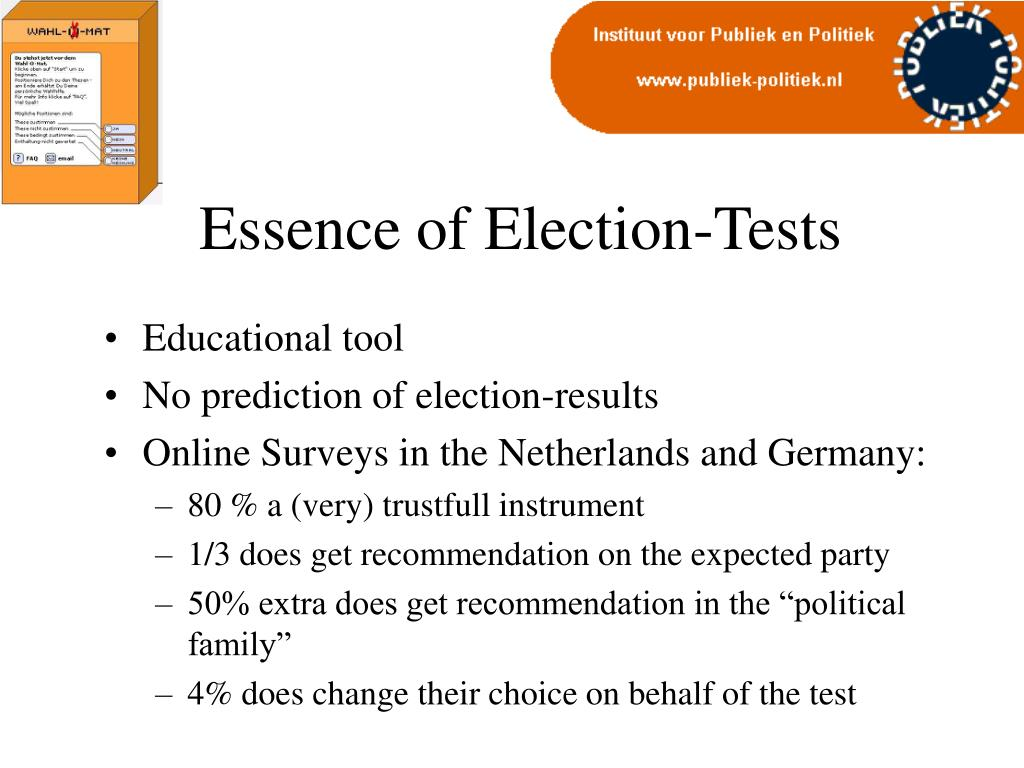 Essence of Election-Tests