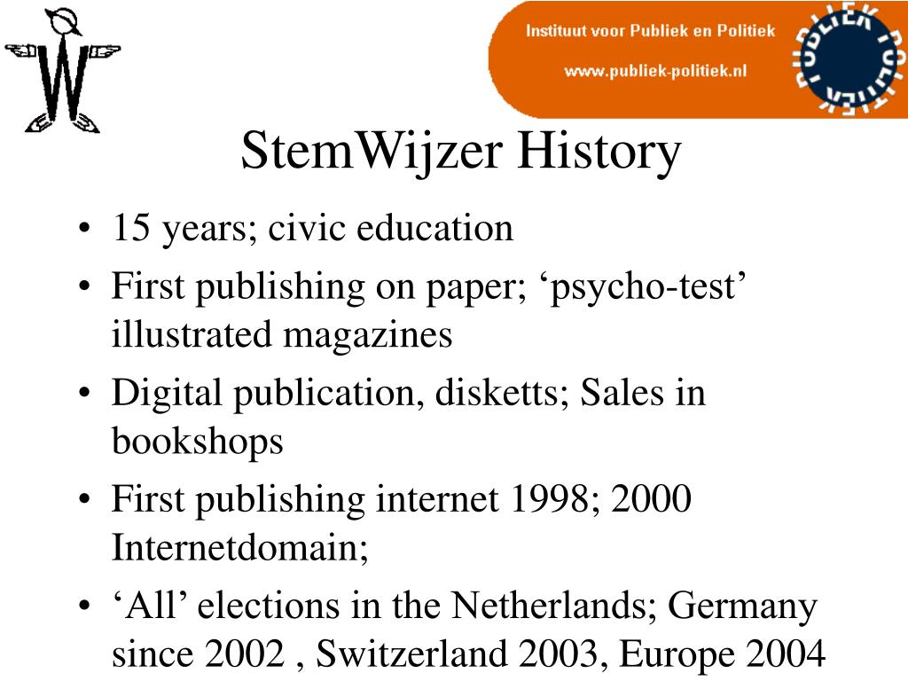 StemWijzer History