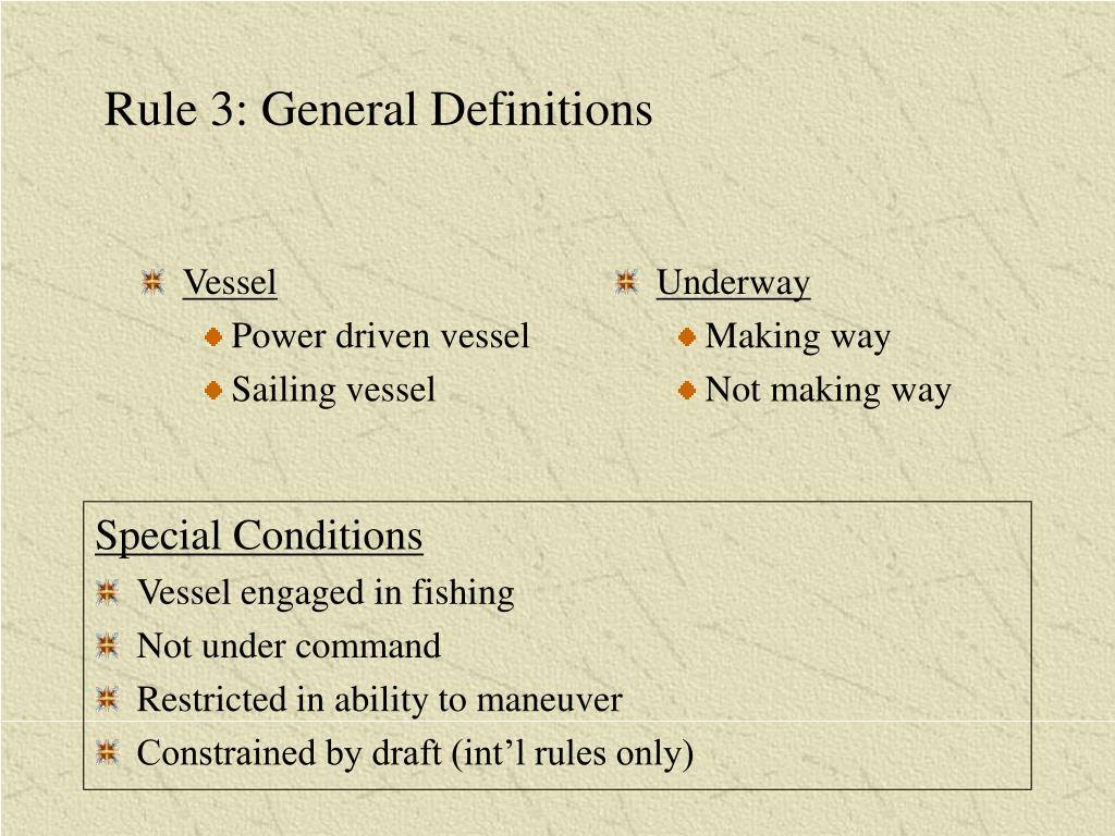 Rule 3: General Definitions