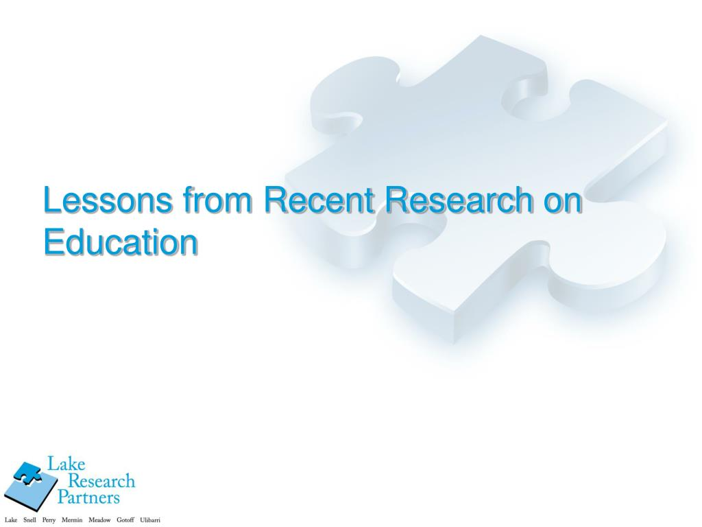 Lessons from Recent Research on Education