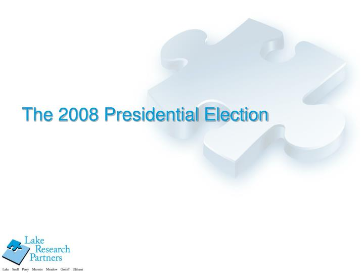 The 2008 presidential election