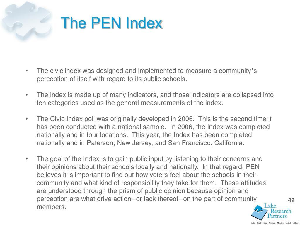 The PEN Index