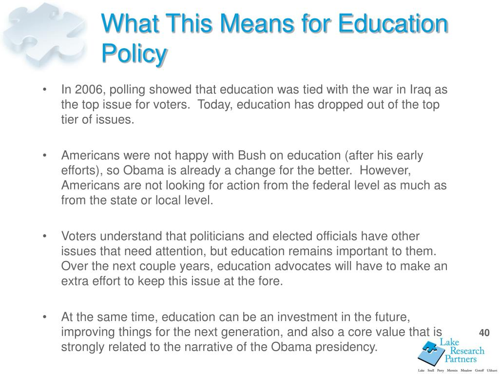 What This Means for Education Policy