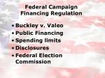 federal campaign financing regulation