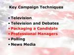 key campaign techniques8