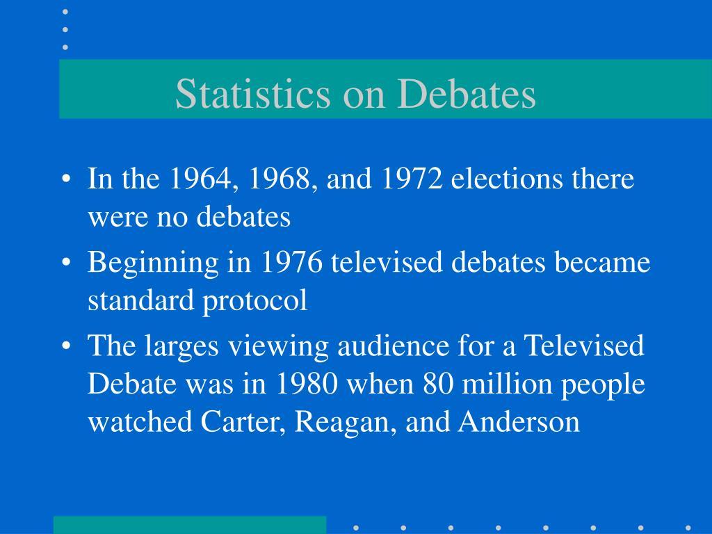 Statistics on Debates