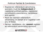 political parties candidates