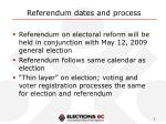 referendum dates and process