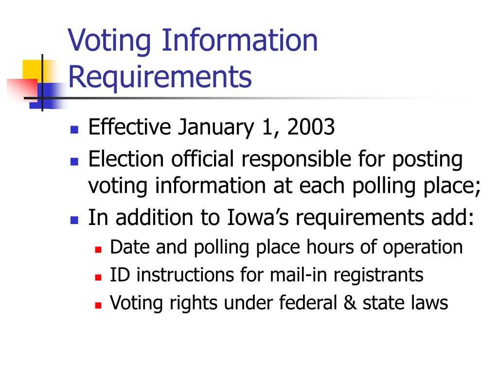 Voting Information Requirements
