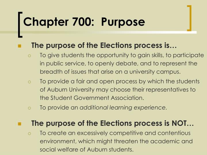 Chapter 700 purpose