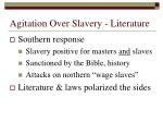agitation over slavery literature13