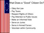 what does a good citizen do